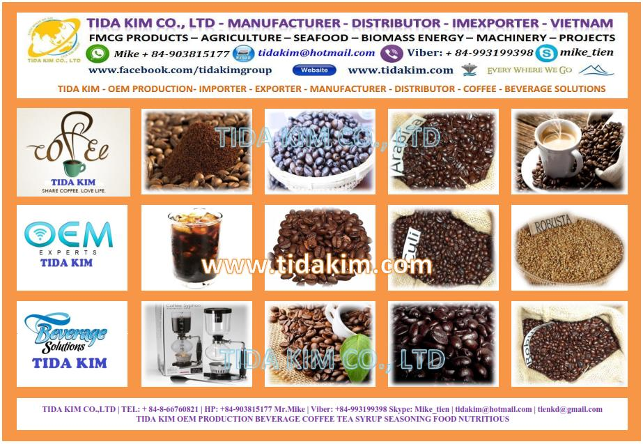 TIDA KIM OEM PRODUCTION BEVERAGE COFFEE TEA SYRUP SEASONING FOOD NUTRITIOUS